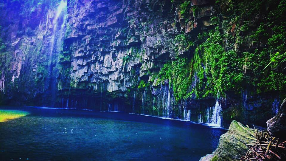 ②鹿児島(雄川の滝)...険しい道の先に突如現れる絶壁の異空間は感動もの。